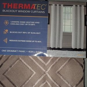 Thermatec blackout curtain panel.